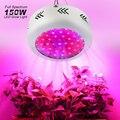Лампа для выращивания 150 Вт НЛО светодиодный светильник для выращивания полный спектр 50ledsx3W Fitolamp коробка для выращивания гидропонный садов...