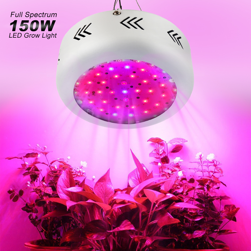 Growing Lamp 150W UFO Led Grow Light Full Spectrum 50leds x 3W Grow Box For Hydroponic Garden Greenhouse Indoor Plants