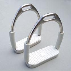Estribos flexibles de acero inoxidable para caballos