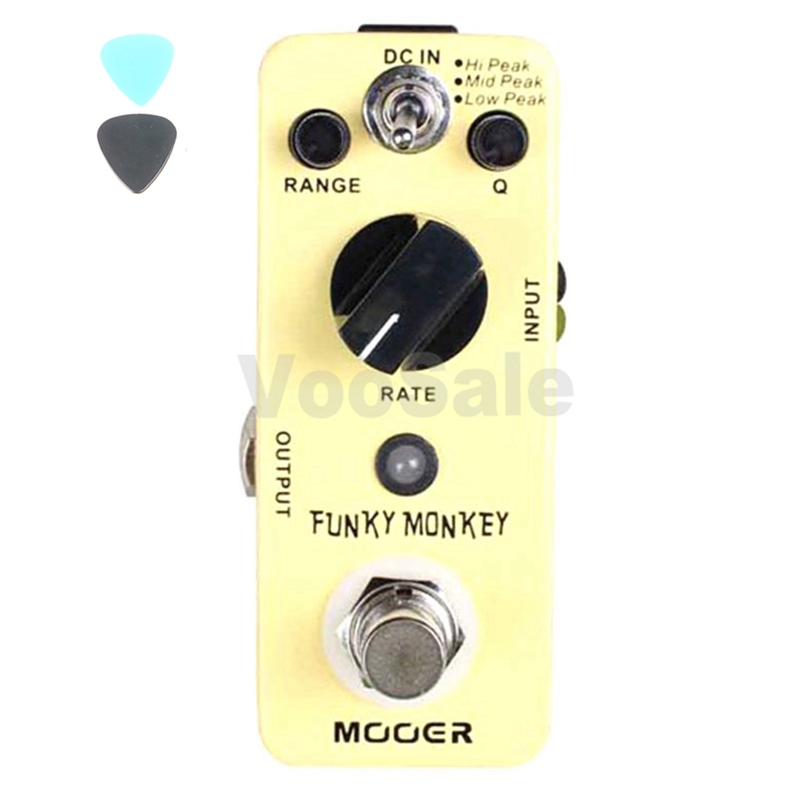 ФОТО MOOER Funky Monkey Auto Wah Pedal Wide Adjustable Range Auto Wah Effects Pedals True Bypass guitar accessories