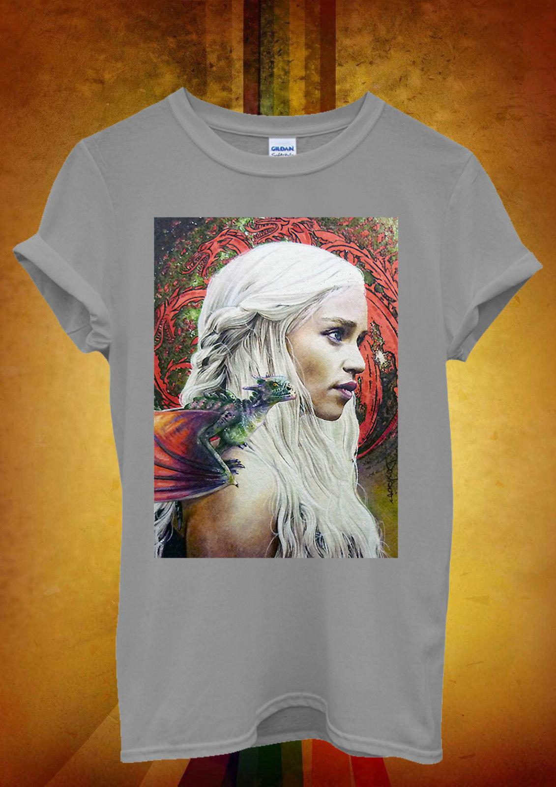 Khaleesi Mother of Dragons Men Women Unisex T Shirt Top Vest 13 New T Shirts Funny Tops Tee New Unisex Funny Tops in T Shirts from Men 39 s Clothing