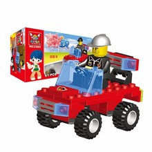 crazy promotions 61pcsset small size fire fighting car model building blocks