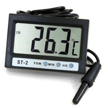 2 car inside and outside thermometer digital electronic clock with dual temperature