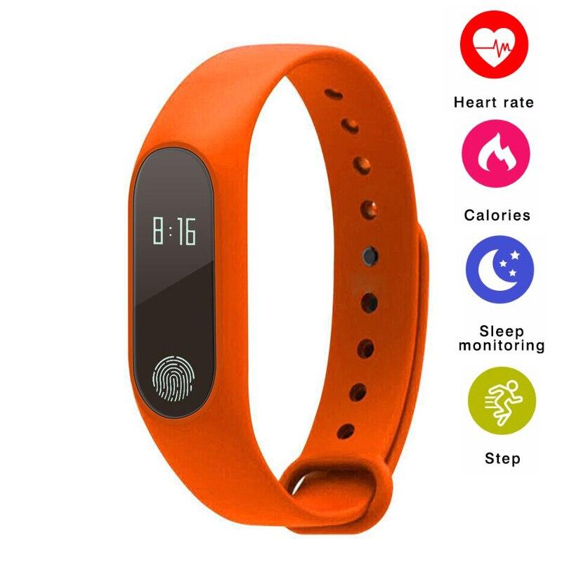 M2 Bande À Puce Bluetooth Bracelet Moniteur de Fréquence Cardiaque Smartband Santé Fitness Tracker Smart Podomètre Bracelet pour Android IOS