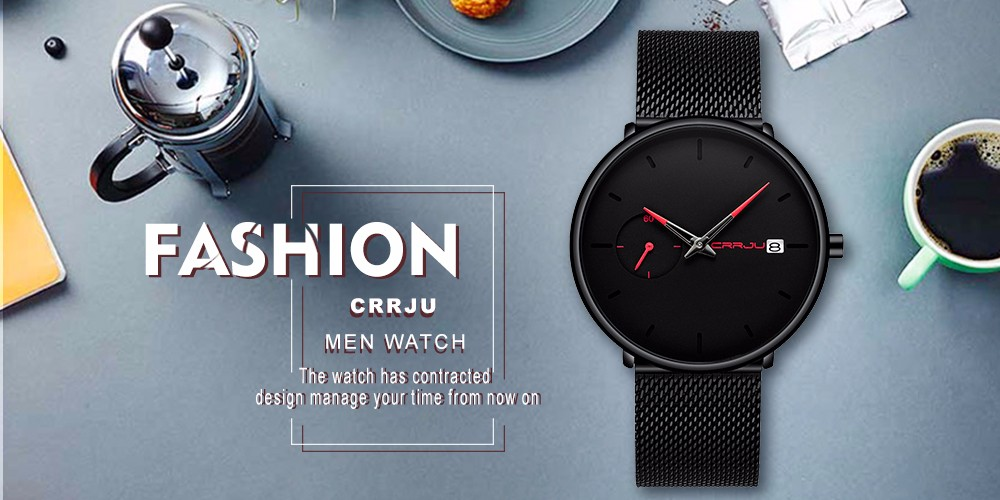 Crrju Watch Women And Men Watch Top Brand Luxury Famous Dress Fashion Watches Unisex Ultra Thin Wristwatch Relojes Para Hombre 1