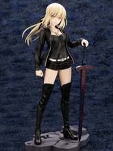 Newest Anime Fate Stay Night 24cm black dress Saber Arturia and Altria Pendragon casual ver Figure Action PVC Collection Model anime figure 22cm fate stay night ccc wedding dress ver saber bride pvc action figure collectible model toy gift