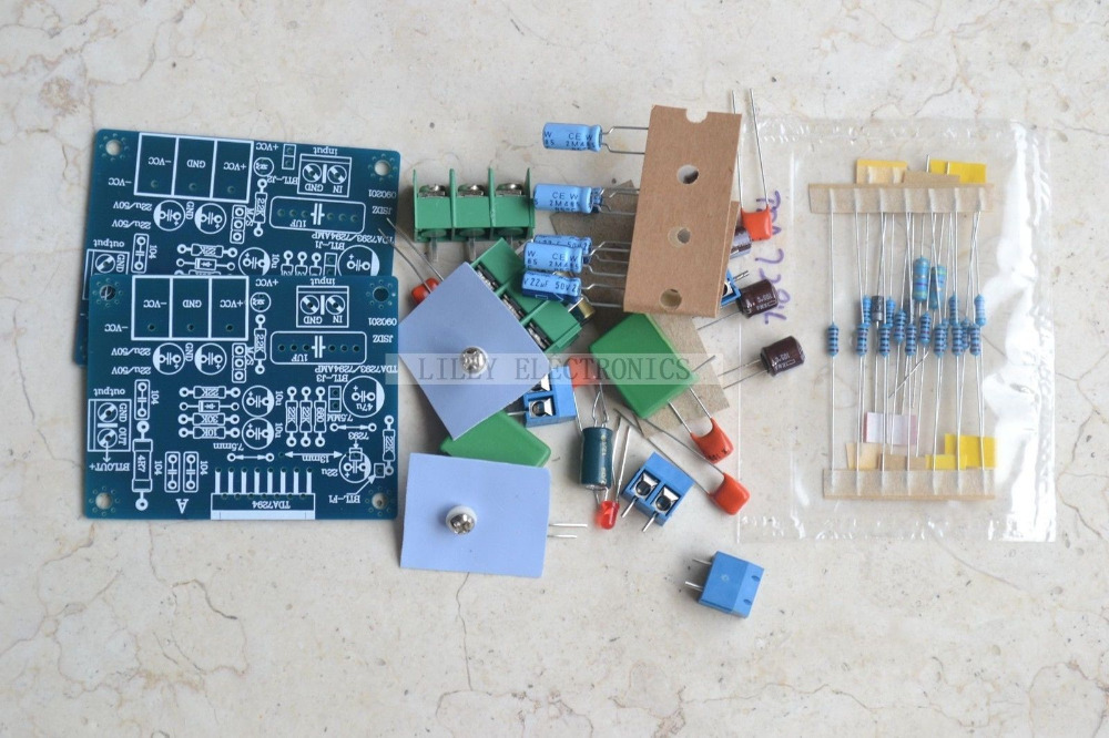 TDA7294 dual-channels Audio Power Amplifier board kit 60W+60W DC +-25V-+-38V набор jtc 1037