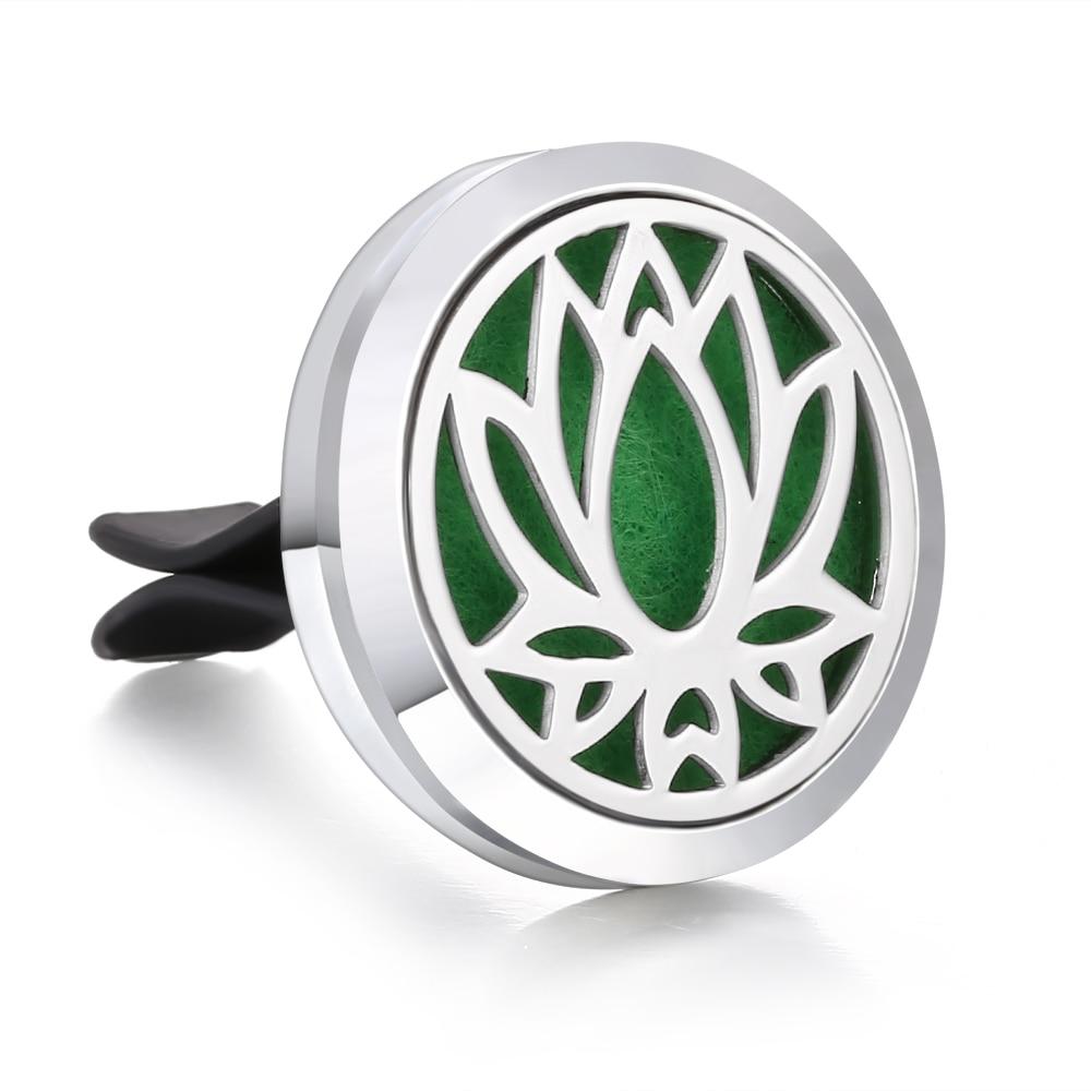 Ароматический диффузор ожерелье открытый медальон Подвеска для ароматерапии диффузор эфирного масла автомобильный освежитель воздуха автомобильный парфюмерный диффузор зажим - Окраска металла: 14