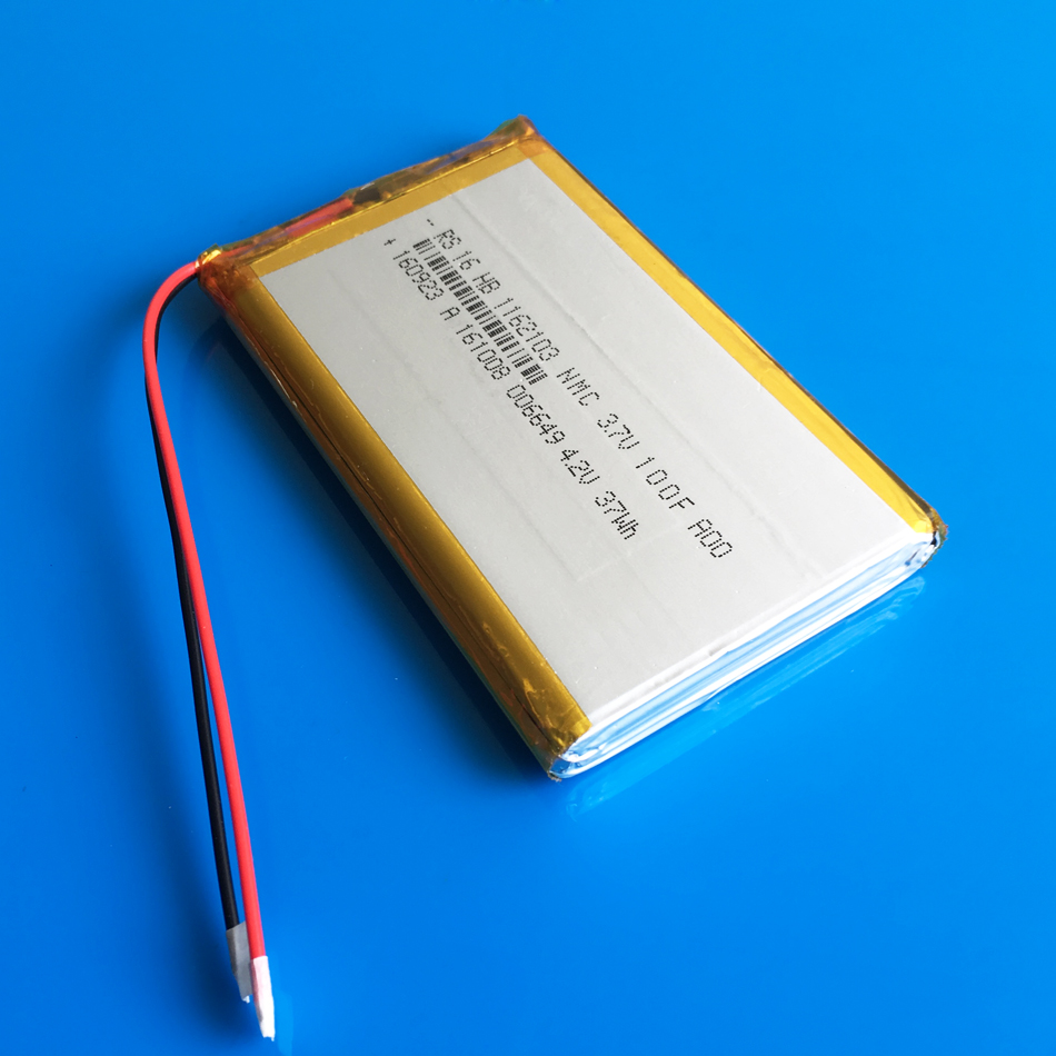 <font><b>3.7V</b></font> <font><b>10000mAh</b></font> rechargeable lipo polymer lithium li-ion <font><b>battery</b></font> for power bank tablet PC laptop PAD PCM board 1162103 11*62*103mm image