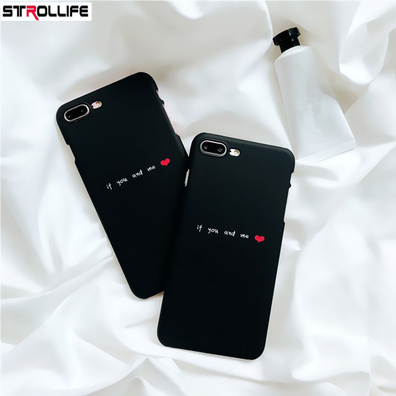 STROLLIFE Letters YOU & ME Couples Phone Cases For iphone 6 case Love Heart Ultra Slim Hard PC Back Cover For iphone 6s 7 7Plus