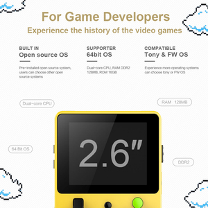 Image 3 - DATA FROG Classic Mini Handheld Game Console Portable LDK Game Family TV Video Console 2.6Inch Support TF Card Gift for Children
