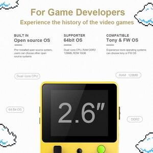 Image 3 - داتا الضفدع كلاسيك وحدة تحكم بجهاز لعب محمول LDK لعبة الأسرة التلفزيون الفيديو وحدة التحكم 2.6 بوصة دعم TF بطاقة هدية للأطفال