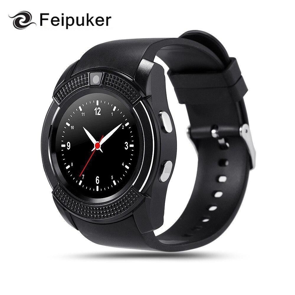 imágenes para 2017 hot V8 Reloj Inteligente Reloj Con TF Ranura de la Tarjeta Sim Smartwatch reloj Bluetooth adecuado para Apple iPhone Android Teléfono