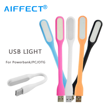 AIFFECT Mini Flexible USB Light Table Lamp Gadgets Bright Portable Mini USB LED For All PowerBank PC Laptop Notebook USB Gadgets