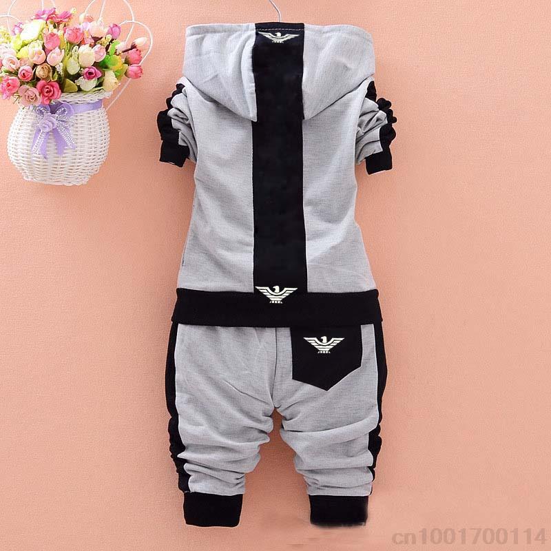 HTB1ywjjwZuYBuNkSmRyq6AA3pXaP - 2019 spring Kids Clothes set Fashion Casual Letter Gray Zipper Hoodie+ Pants Baby Boys 2pcs Sets girl fall clothes Children Suit