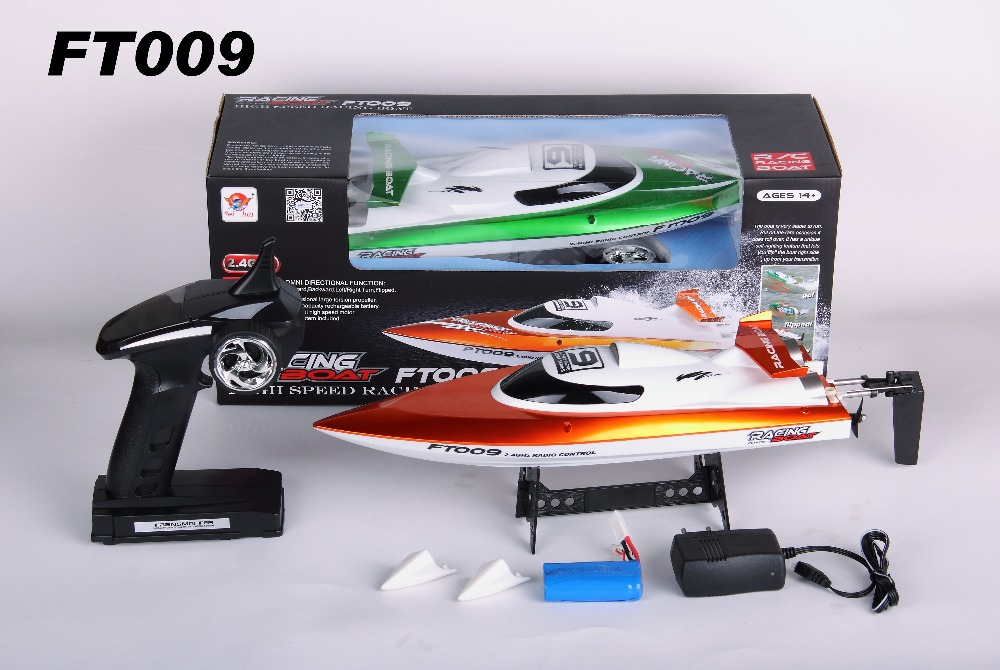 Freeshipping Feilun FT009 2 4G 4CH RC Racing Boat Water Cooling System Self righting 30km h