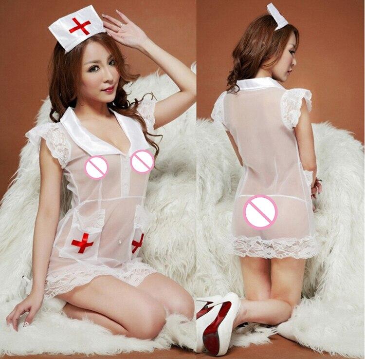 d6e767f87 Caliente Cosplay enfermera uniforme tentación enfermera sexy trajes de las  mujeres ropa interior atractiva juego del papel