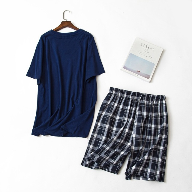 short pyjama set for male