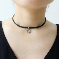 Rose Gold 925 Sterling Silver Choker Necklace Turkish Handmade Evil Blue Eye Nano Turquoise Lady Fine