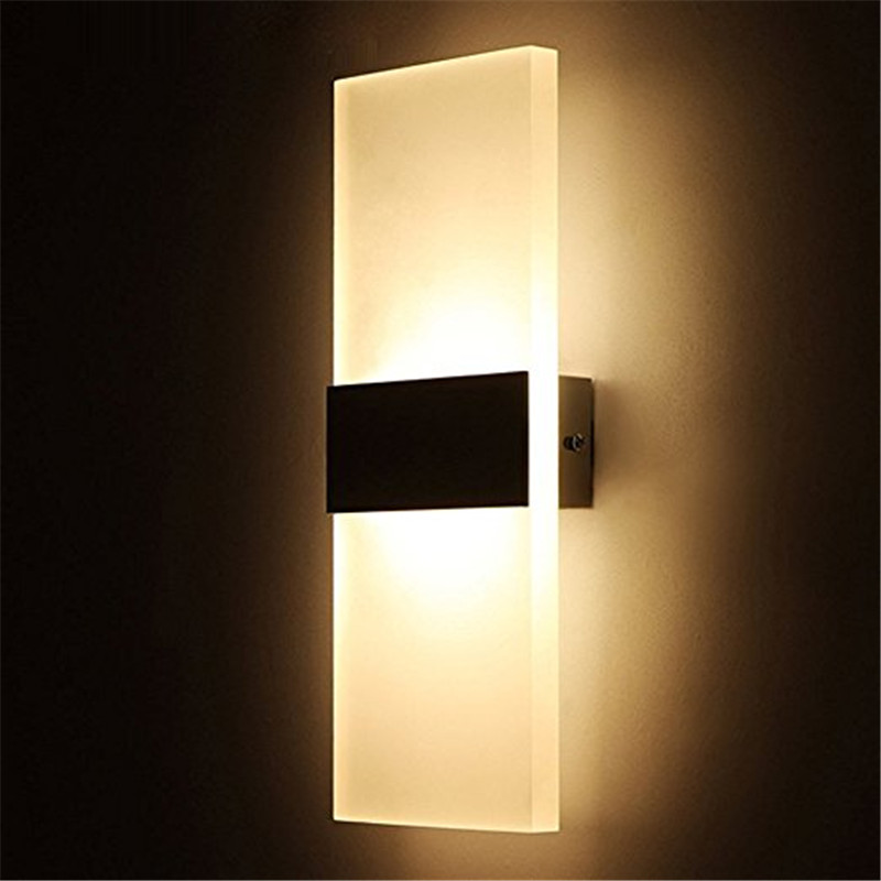 Decorative Wall Lights For Bathroom : Lumiparty modern acrylic w led wall sconces aluminum