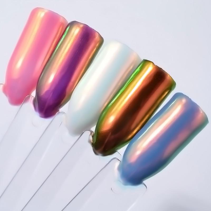 1 Box Aurora Unicorn Powder Mermaid Neon Nail Art Chrome Pigment ...