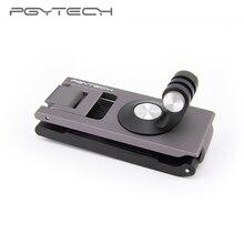 Em estoque pgytech para dji omso bolso 2 ação câmera cinta titular l suporte de montagem rotativa para osmo ação cardan handheld