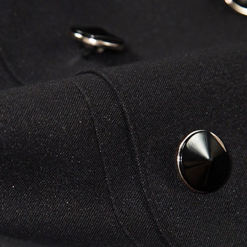 Dames Bureau Costumes Work Black Skirt Pants Qualité Printemps Coat À Double Wear Skirt Jupe Blazer Mis Manches Pants navy Boutonnage Haute Mince De D'affaires black Longues Mode Et And navy watqwT