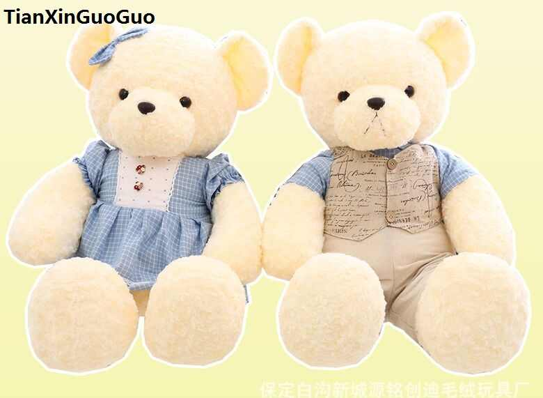 Nova chegada grande 90 cm teddy bear, casais amor propor ursos de pelúcia boneca de brinquedo macio throw pillow, presente de aniversário w2700