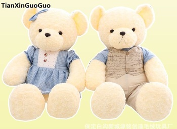 new arrival large 90cm teddy bear, couples love bears plush toy soft doll throw pillow propose,birthday gift w2700