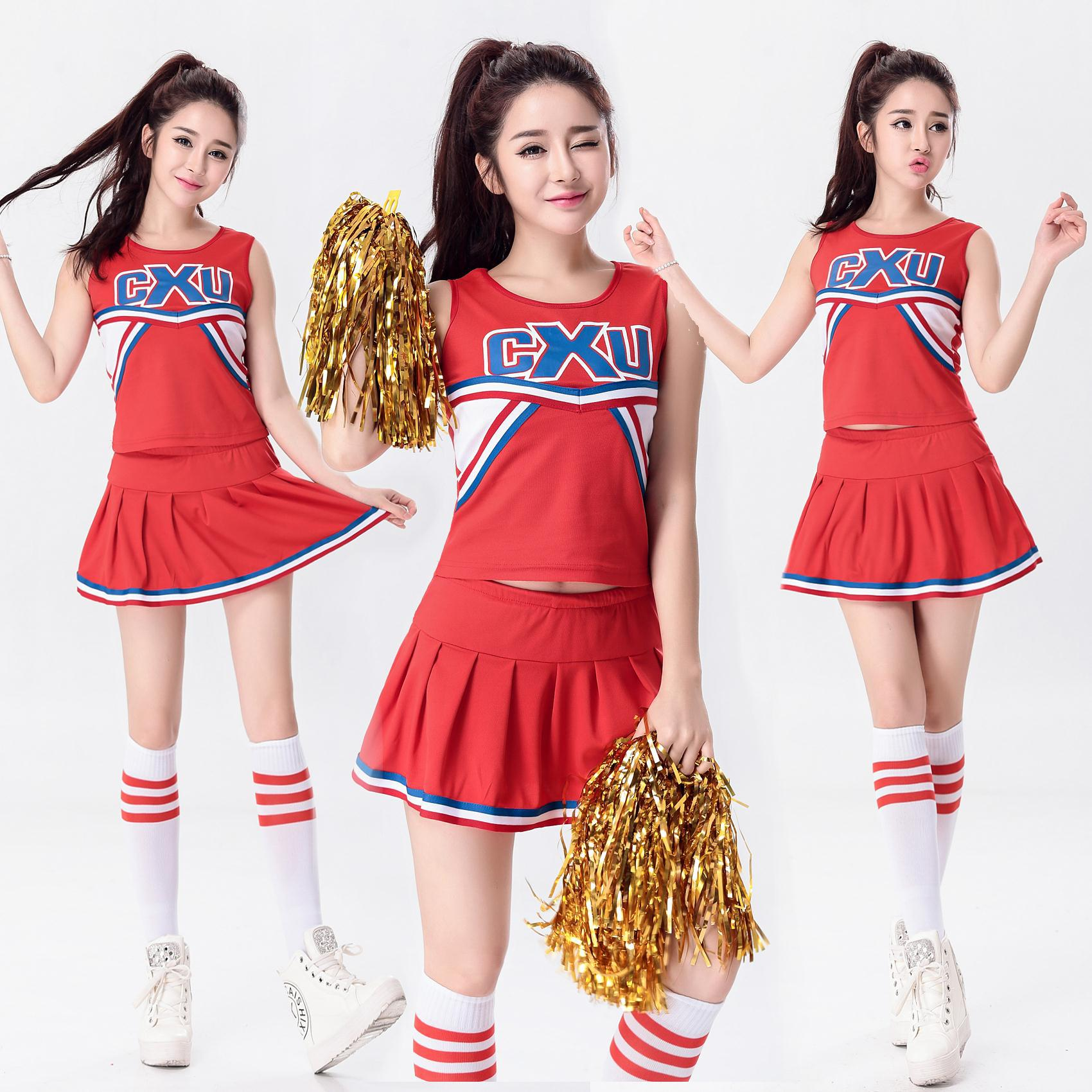 High School Girl Cheerleader Costume Cheer Uniform Cheerleading Dress Sexy School Girls Uniform Nihtclub Party Outfits Football girl