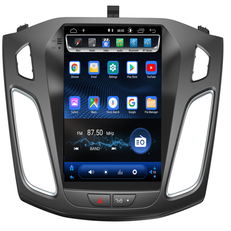 2019 Android 8.1.0 vertical screen Car Multimedia tesla GPS NAVIGATION Radio player for Ford FOCUS 2012-2017 stereo head unit