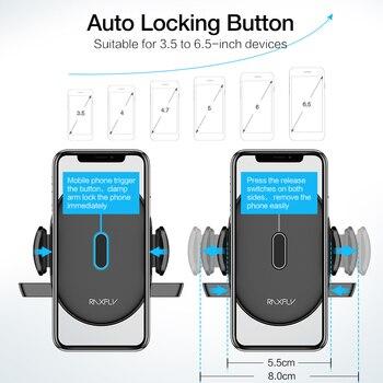RAXFLY Luxury Car Phone Holder For iPhone 11 pro max  Windshield Car Mount Phone Stand Car Holder For Samsung s10 Telefon Tutucu 2