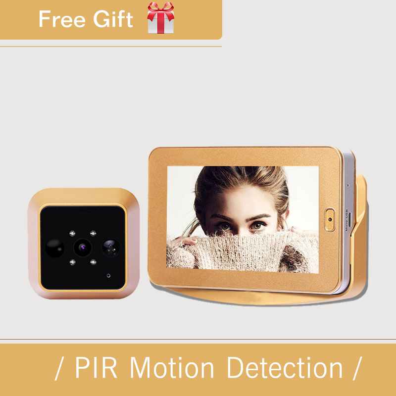 4 3Inch HD Touch Screen Video Recording Smart Door Peephole Camera Wireless PIR Motion Sensor Smart
