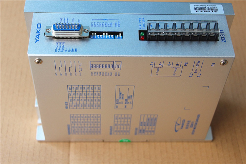 2D811 YAKOTEC NEMA42 NEMA52 2phase stepper motor driver 110VAC 8A CNC Router цены онлайн