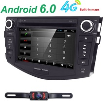 Android 6.0 Car Multimedia Player Stereo For TOYOTA RAV4 DVD/Bluetooth/Radio/Audio Mirrorlink Capacitive Touch Screen 1G RAM