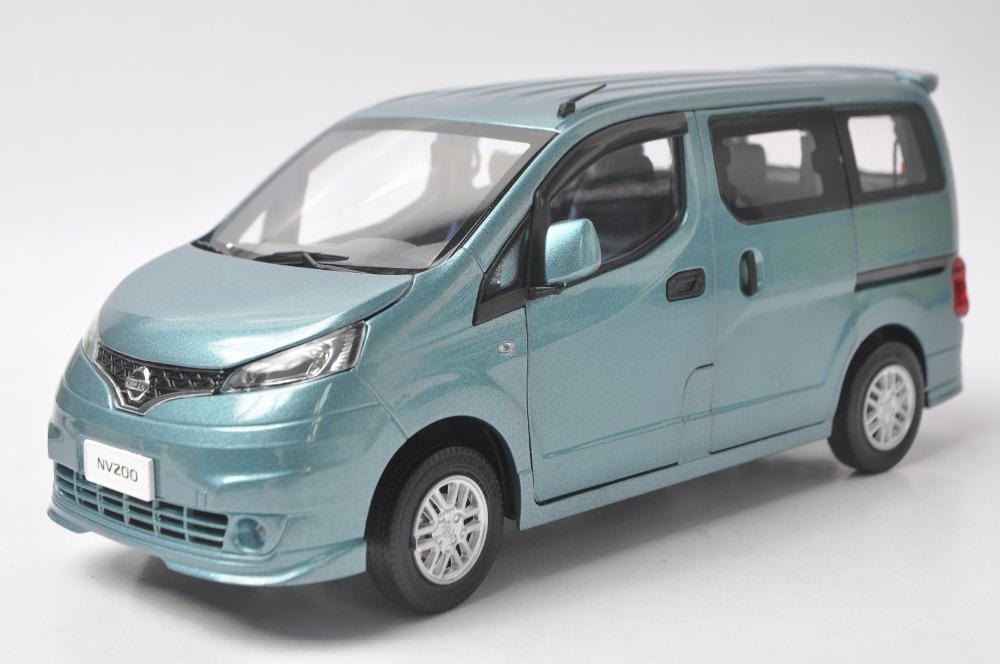 1:18 Diecast Model for Nissan NV200 Blue MPV Alloy Toy Car Van nikko машина nissan skyline gtr r34 street warriors 1 10 901584 в перми