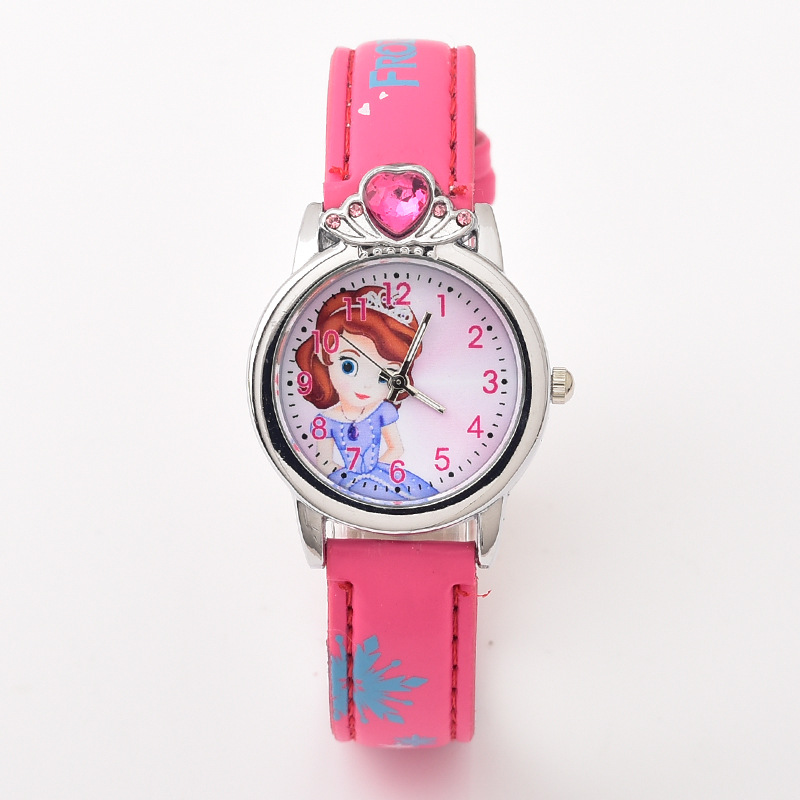 Lovely Relogio Feminino 2019 Top Relojes Cartoon Children Watch Princess Watches Fashion Kids Lovely Pink Crystal Quartz Watch Girl Watches