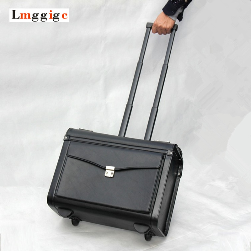 Upgraded Cabin Luggage,Flight attendants Box,Commercial computer Bag,Unisex Password Travel suitcases,Boarding Rolling Carry-On quicksilver aktiv cabin 510 бу в финляндии