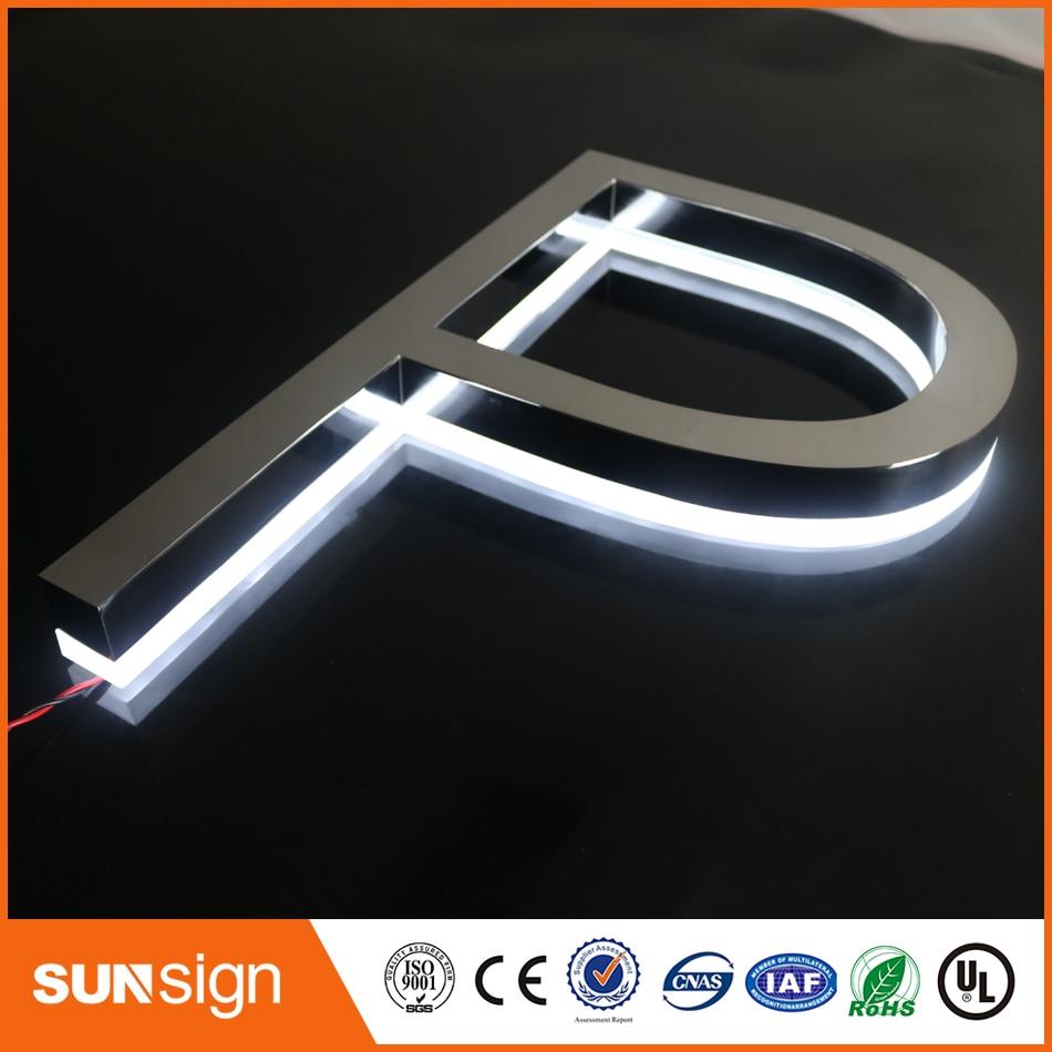 Waterproof LED Painting Acrylic Led Backlit Letter Signage