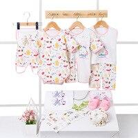 10pcs/set baby Newborn sets Summer pure cotton set kids clothes girls unisex suit pink blue yellow Without Box