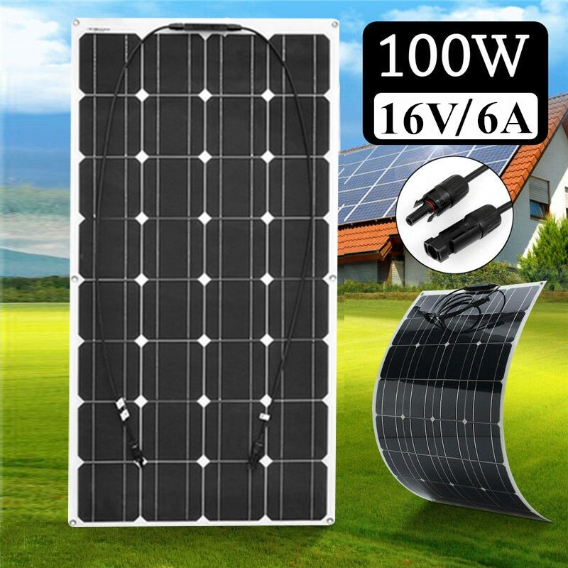 BOGUANG 12V 100W Monocrystalline Flexible Solar Panel For Car Boat High Quality Flexible Panel Solar 100w