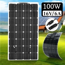 BOGUANG 12V 100W Monocrystalline Flexible Solar Panel For Car/Boat High Quality Flexible Panel Solar 100w China flexible painel solar 12v 25w 4 pcs solar panels 100w solar battery charger chargeur solaire marine yacht boat caravan car camp