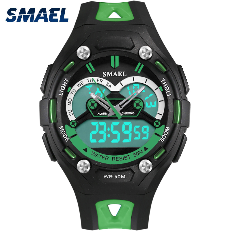 New SMAEL WAtches for Children Smart Watch Casual Genuine Sports LED Backlight Shockproof Chronograph Hot Selling