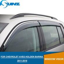 Visor de ventana para Chevrolet AVEO Holden Barina 2011 2018 deflectores Winodow laterales protectores de lluvia para Chevrolet Sonic Sedan SUNZ
