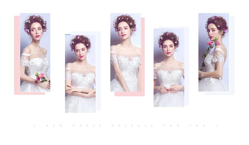Angel Wedding Dress Marriage Bride Bridal Gown Vestido De Noiva 2017 Boat Neck Nail, lace, 2129 2