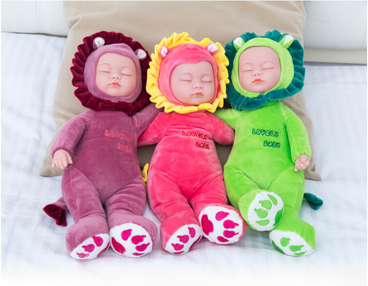 35CM Plush Stuffed Toys Baby Dolls Reborn Doll Toy For Kids Accompany Sleep  Cute Vinyl Plush doll Girl Lifelike Kids Toys Gift-in Dolls from Toys    Hobbies ... 8c5fb545e47f