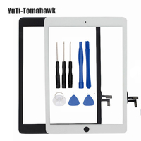 Replacement For iPad Air Touchscreen Touch Screen Glass Digitizer Repair for iPad 5 tablet touch panel + Home Button Flex Cable