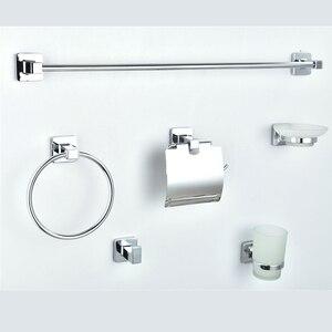 Набор оборудования для ванной комнаты хромированный серебристый держатель для полотенец на стену Toliet бумажный держатель аксессуары для ва...
