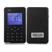 """Новый V5 AIEK Карты Мобильного Телефона 6.9 мм Ультра Тонкий Карманный Мини Телефон 1.8 """"экран Quad Band Multi языки Английский Сенсорная Клавиатура"""