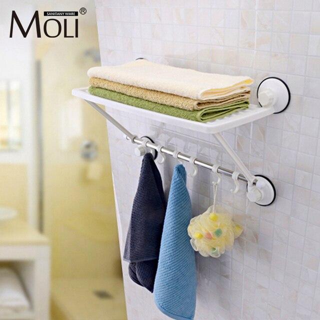 Free shipping single layer towel racks with hooks plastic towel ...